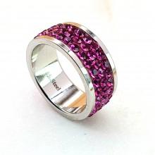 Женские кольца из стали Вставка Кристалл Swarovski купить №23
