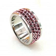Женские кольца из стали Вставка Кристалл Swarovski купить №7