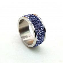 Женские кольца из стали Вставка Кристалл Swarovski купить №17