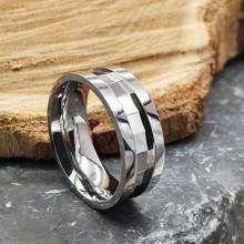 Обручальное кольцо из медицинской стали Счастье американка 7 мм