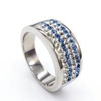 Стальное кольцо женское Морин