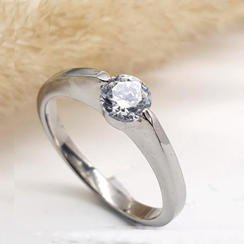 Кольцо для предложения (помолвки) из медицинской стали