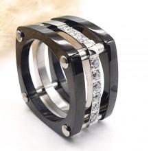 Кольцо металлическое с кубическимими циркониями Савойя
