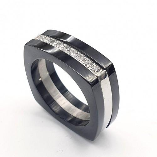 Женское кольцо из стали Никта