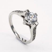 Эффектное кольцо для обручения с цирконием Грейс Келли