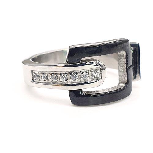 Женское кольцо из стали Бонди