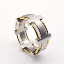 Необычное мужское кольцо из стали стальное Эгоист