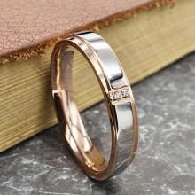 Обручальные кольца купить кольца с двумя цикрониями сталь/золото 5 мм