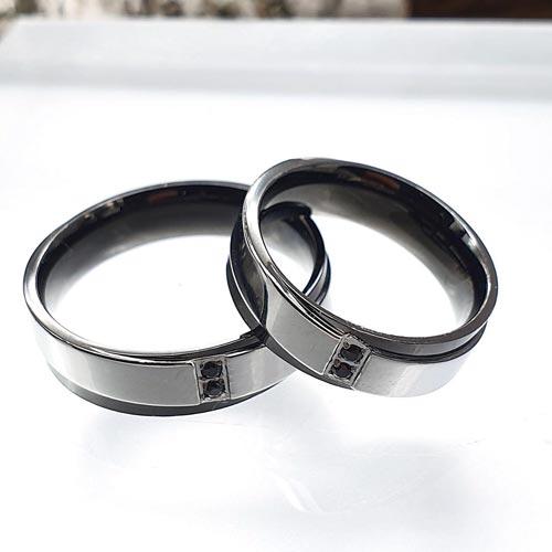Кольцо из комбинированной стали унисекс Анубис