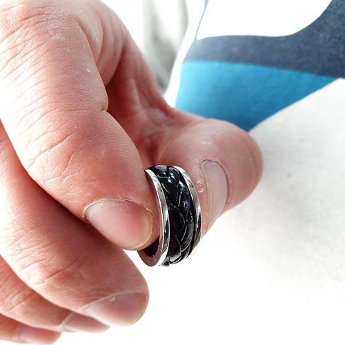 Кольцо из медицинской стали мужское Айдар