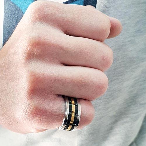 Кольцо антистресс из комбинированной стали Скалолаз