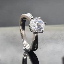 Кольцо для помолвки из медицинской стали женское Мон Флери