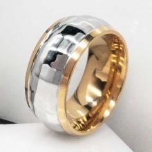 Пара обручальных колец из комбинированной медицинской стали 10 мм