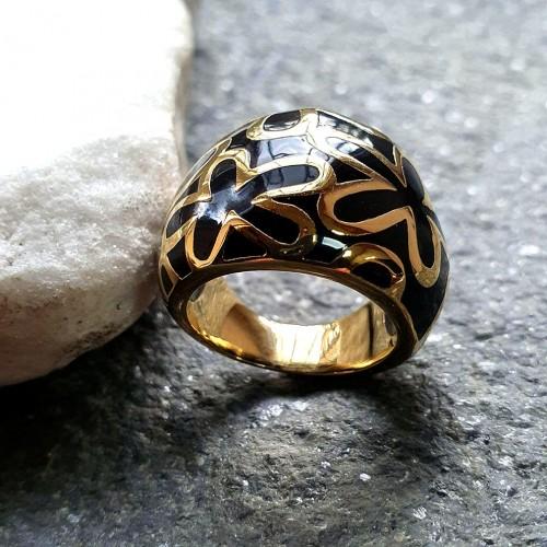 Эмалевое кольцо для женщин Алифа