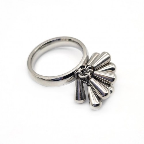 Кольцо стальное с необычным дизайном женское Арианна