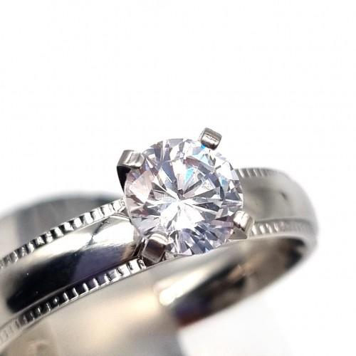 Помолвочное кольцо из стали Любимая