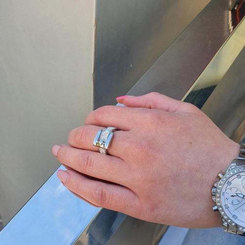 Стальное кольцо женское Серебристый ремешок