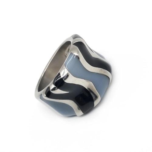 Женское кольцо с цветной эмалью Сафари лайт