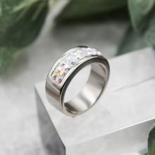 Кольцо женское с кристаллами-хамелеонами Swarovski
