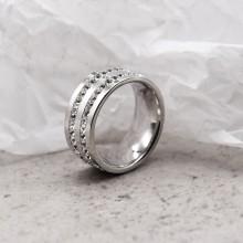 Женское кольцо Swarovski с циркониями белого цвета