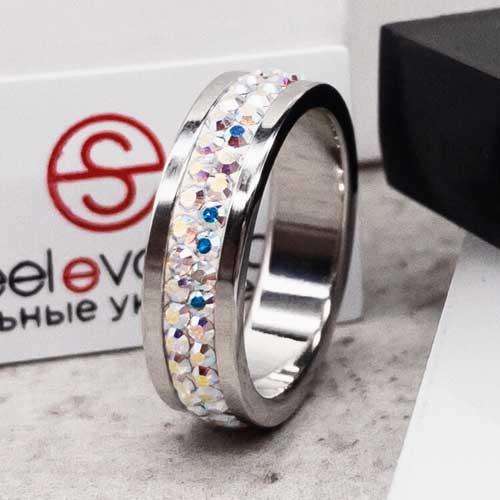 Женское кольцо Swarovski с кристаллами-хамелеонами