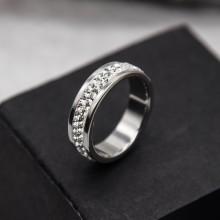 Женское кольцо Swarovski с кристаллами белого цвета