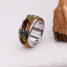 Женские кольца из стали Вставка Кристалл Swarovski купить №20