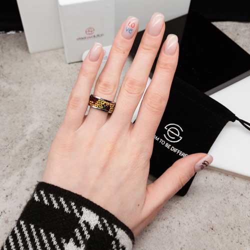 Женское кольцо с разноцветными кристаллами Swarovski Шахерезада