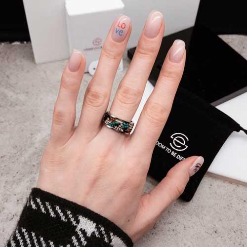 Женское кольцо с разноцветными кристаллами Swarovski Самарканд