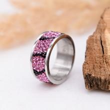 Женское кольцо с разноцветными кристаллами Swarovski Хала
