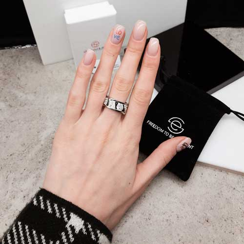 Женское кольцо с разноцветными кристаллами Swarovski Альтаир