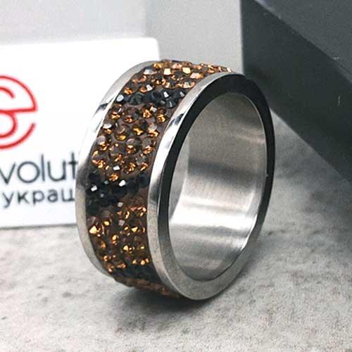 Женское кольцо с разноцветными кристаллами Swarovski Амарин