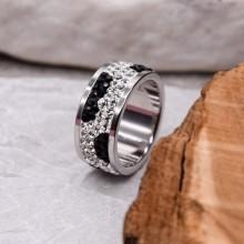 Женское кольцо с разноцветными кристаллами Swarovski Фариза