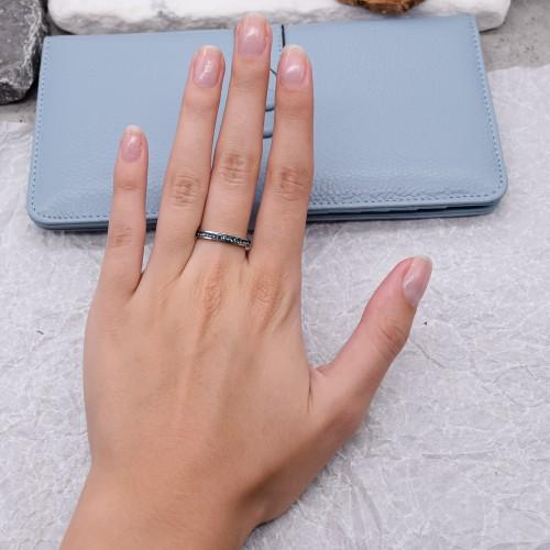 Женское тонкое кольцо Swarovski с кристаллами синего цвета