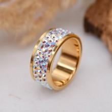 Женские кольца из стали Вставка Кристалл Swarovski купить №21