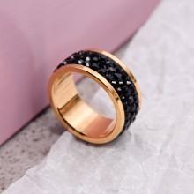 Женские кольца из стали Вставка Кристалл Swarovski купить №11