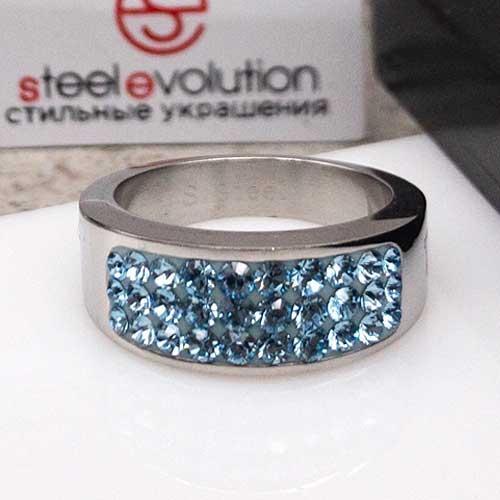 Женское кольцо Swarovski Crystal цвета аквамарин