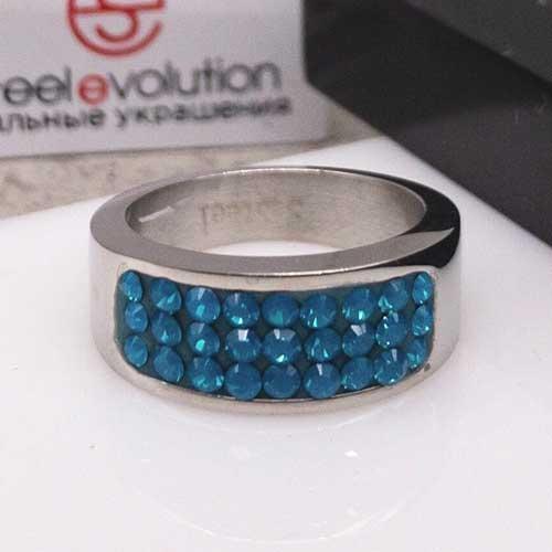 Женское кольцо Swarovski Crystal цвета голубого циркония