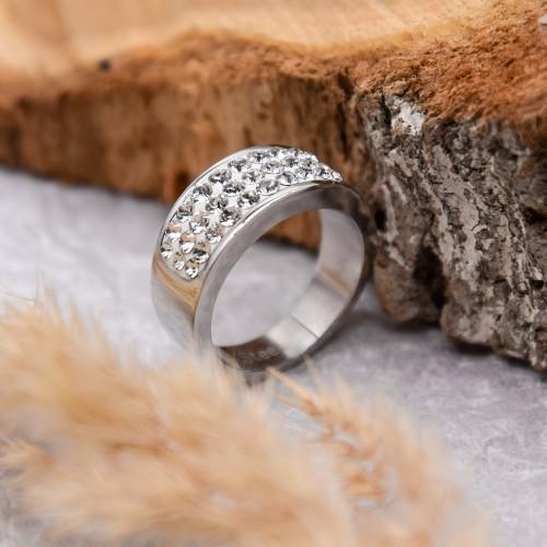 Женское кольцо Swarovski Crystal с белыми кристаллами