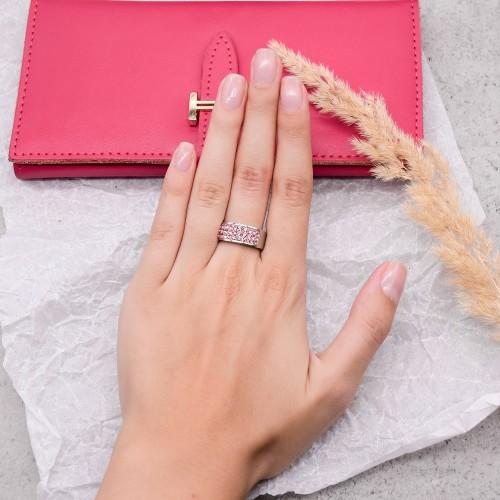 Женское кольцо Swarovski Crystal с кристаллами светло-розового цвета