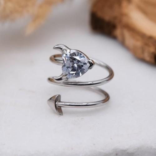 Женское кольцо Swarovski Crystal Чертенок