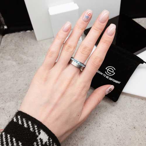 Женское кольцо Swarovski Crystal аквамарин