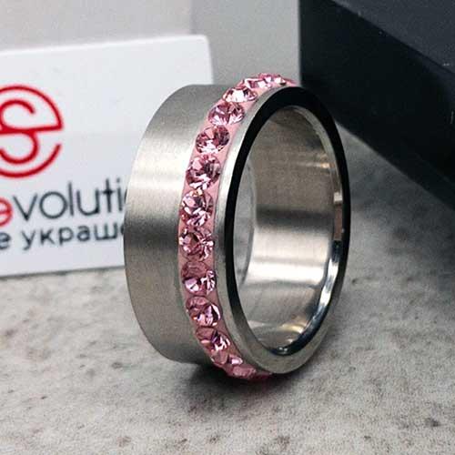 Женское кольцо Swarovski Crystal светло-розовый
