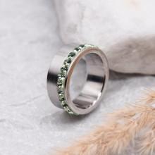 Женское кольцо Swarovski Crystal светло-зеленый