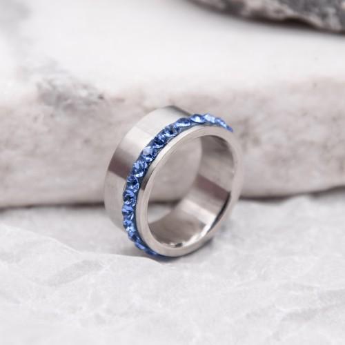 Женское кольцо Swarovski Crystal сапфир