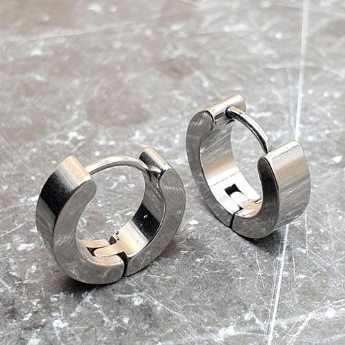 Серьги конго кольца унисекс из стали 4 мм в ассортименте