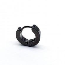 Серьга-кольцо черная в хрящ из медицинской стали унисекс 3 и 4 мм (1 шт.)