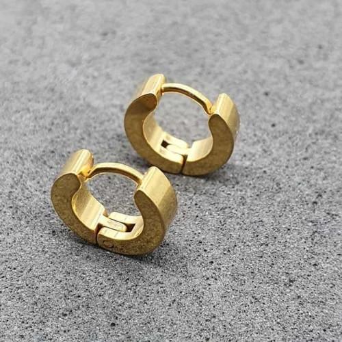 Серьги-кольца конго в уши унисекс из медицинской стали с покрытием 3 мм в ассортименте
