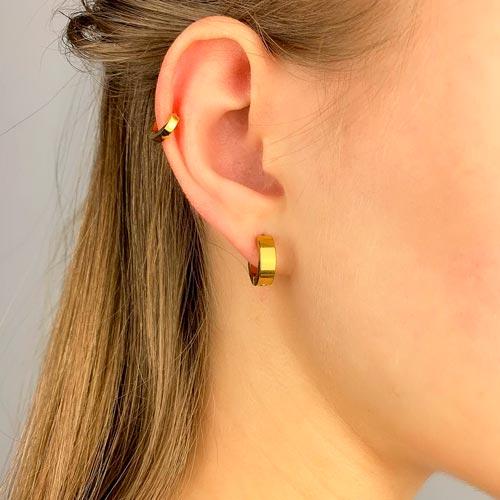Сережки конго в ухо унисекс из ювелирного сплава 4 мм в ассортименте