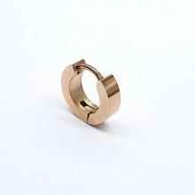 Серьга в хрящ уха сталь мужская женская розовое золото 3 мм (1 шт.)